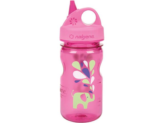 Nalgene Everyday Grip-n-Gulp Bottle 350ml Kids pink elefant
